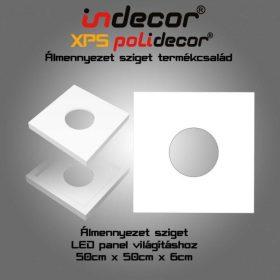 N-50-FZ XPS négyzet álmennyezet LED panelhez 50 x 50 x 6 cm