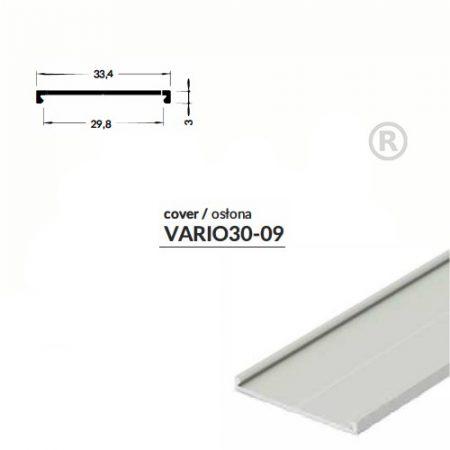 LED PROFIL VARIO30-09 alu fedél 2000mm natur alu