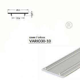 LED PROFIL VARIO30-10 alu fedél 2000mm natur alu