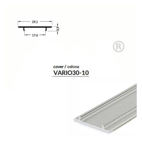 LED profil VARIO30-10 alu fedél 2000mm eloxált
