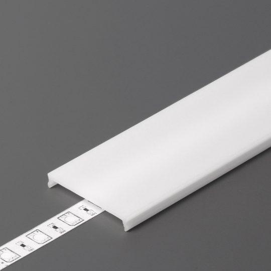 LED profil VARIO C9 click fedél 2000mm opál