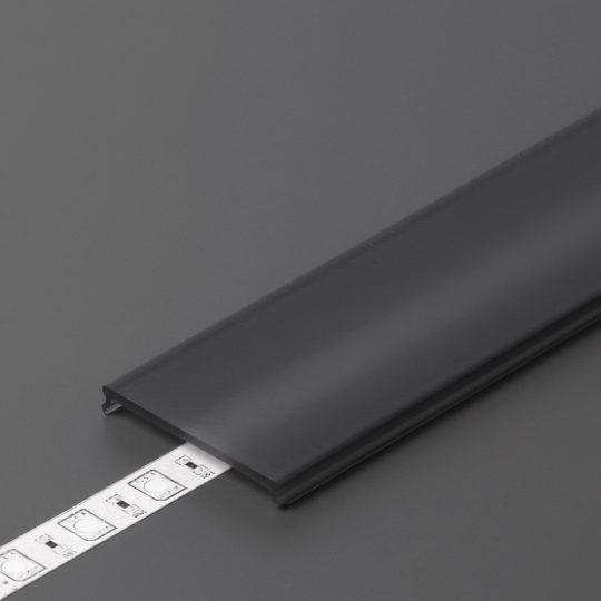LED profil VARIO C9 click fedél 2000mm fekete