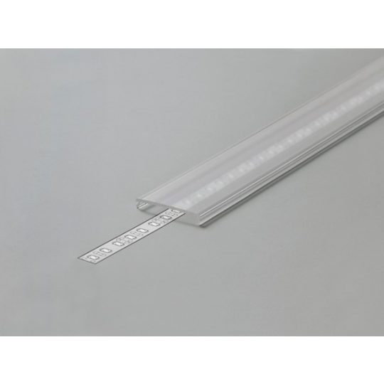 LED profil VARIO C9 click fedél 2000mm víztiszta
