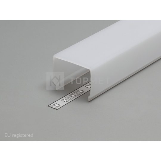 LED profil VARIO E9 click fedél 2000mm opál