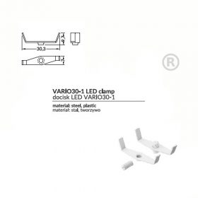 LED PROFIL VARIO 30-1 CLAMP LED VARIO30 FEHÉR
