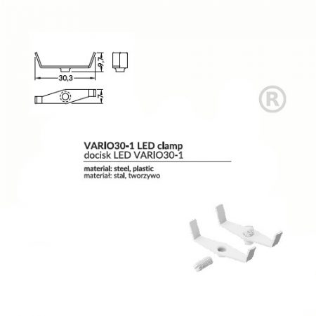 LED profil VARIO 30-1 CLAMP LED VARIO30 fehér