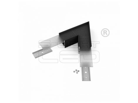 LED profil VARIO30-02 sarokidom síkban forduló 60°-os (fekete)