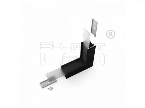 LED profil VARIO30-02 sarokidom térben forduló 90°-os (fekete)