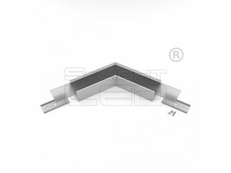 LED profil VARIO30-02 sarokidom síkban forduló 120°-os (eloxált)