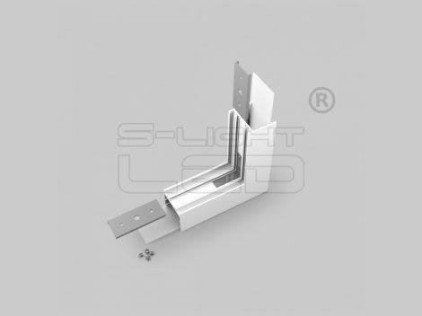 LED profil VARIO30-02 külső sarokidom térben forduló 270°-os (fehér)