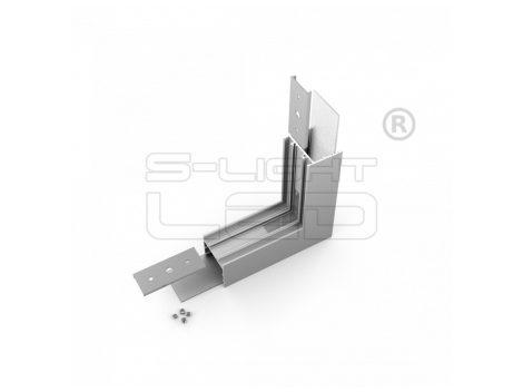 LED profil VARIO30-02 sarokidom térben forduló 270°-os (eloxált)