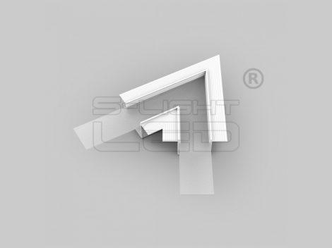 LED profil VARIO30-05 sarokidom síkban forduló 60°-os (fehér)