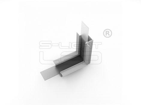 LED profil VARIO30-05 sarokidom térben forduló 90°-os (eloxált)