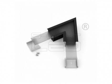LED profil VARIO30-07 sarokidom síkban forduló 60°-os (fekete)