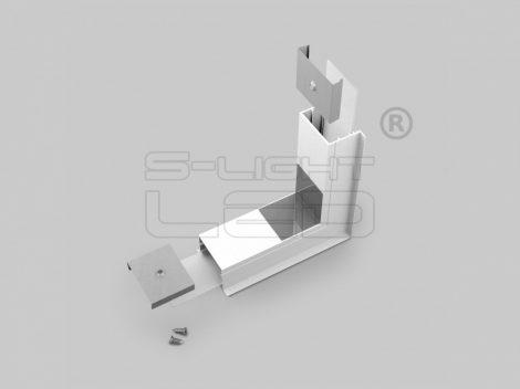LED profil VARIO30-07 külső sarokidom térben forduló 270°-os (fehér)