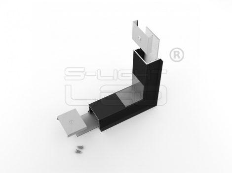 LED profil VARIO30-07 külső sarokidom térben forduló 270°-os (fekete)