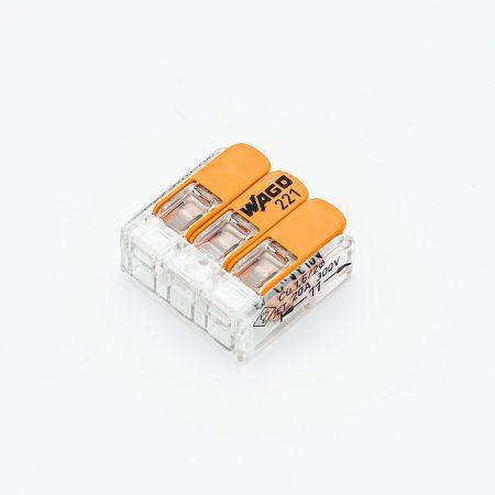 WAGO 221-413 3 vezetékes összekötő