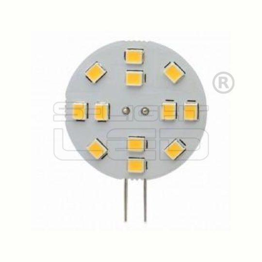 LED G4 2W 3000K 12 SMD oldalsó csatlakozó 30mm