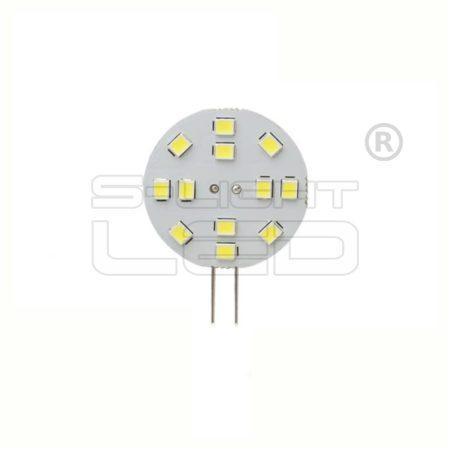 LED G4 2W 6500K 12 SMD OLDALSÓ CSATLAKOZÓ30mm