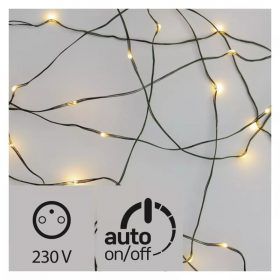 EMOS LED fényfüzér nano 4m 40LED IP44 melegfehér időzítős