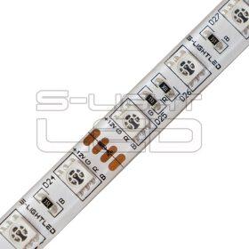 SL-RGB-5050WU60-24 S-LIGHTLED RGB SZALAG 60LED/méter IP54 szilikon 24V