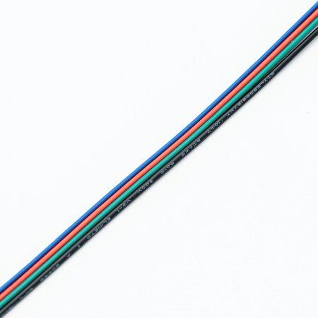 Vezeték RGB 4-eres színes 4x0.35mm2 RGB LED szalag szereléshez