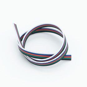 Vezeték RGBW 5-eres színes 5x0.35mm2 RGBW LED szalag szereléshez