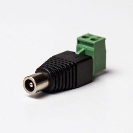12V DC 5,5/2,1 csatlakozó adapter  (anya)12V DC