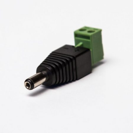 12V DC 5,5/2,1 csatlakozó adapter (apa)