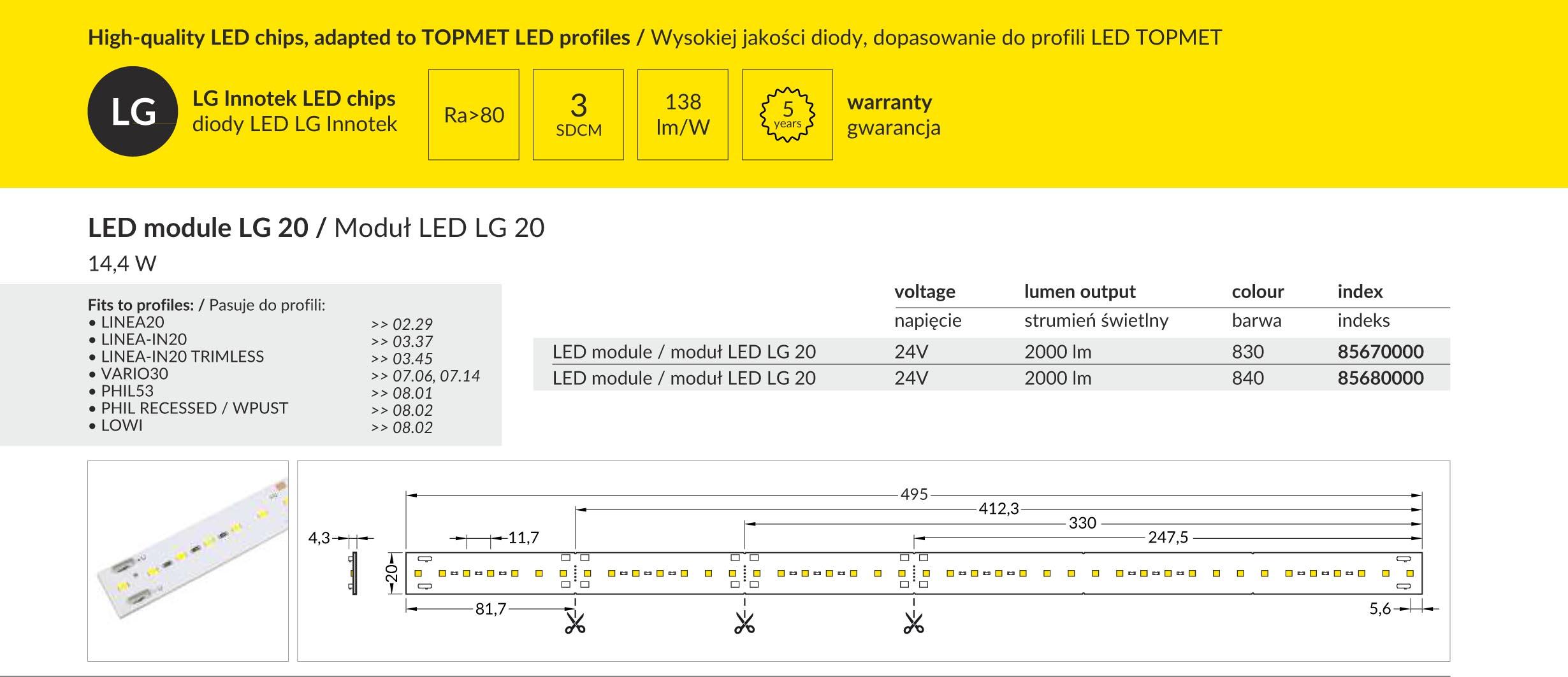 LG20 24V LED modul ismertető